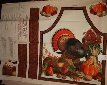 Autumn Harvest Apron Panel