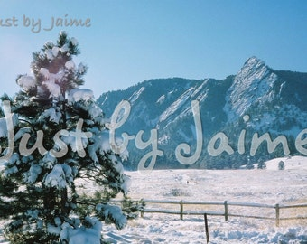 Flatirons in Winter professionally printed photo -- available in 5x7 or 8x10 (larger sizes by request) --matte finish