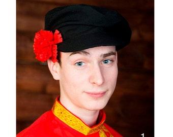 Russian traditional cap, Russian headwear, Russian folk costume, Men's  folk headdress, Kartuz