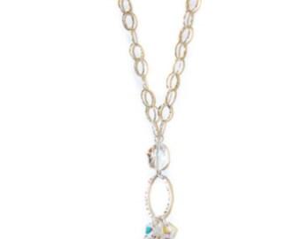 038S- Swarovski Crystal Necklace in sterling-silver