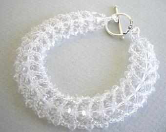 Clear Swarovski Crystals Bracelet