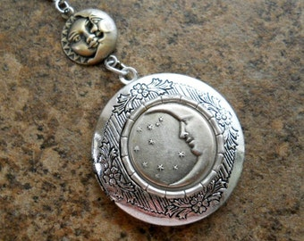 NEW Moon and Stars Enchanted Locket in Silver-EXCLUSIVE DESIGN