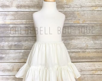 Ivory petticoat - Girls cotton petticoat - Toddler petticoat - Underskirt - Girls cotton tutu - tutu