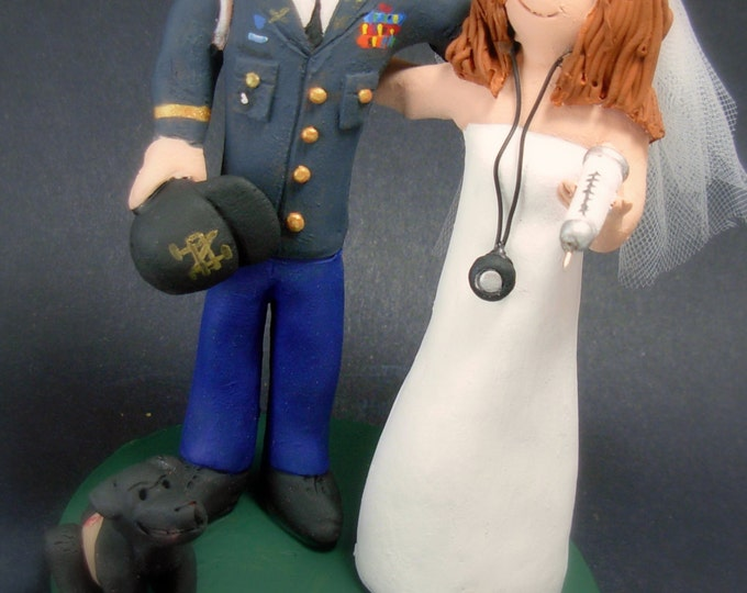 Captain Infantry Branch US Army Wedding Cake Topper, Soldier's Wedding Anniversary Gift , Military Wedding Cake Topper, Air Force Caketopper