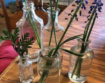 Set of 5 Vintage Bottles