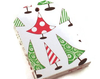 30 Funky Tags  Large Paper Gift Tags in Sassy Trees