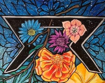 "Watercolor painting ""perthro"" prints"