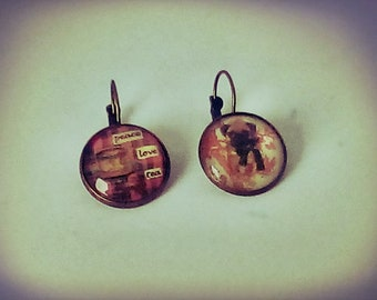 Put and tea earrings