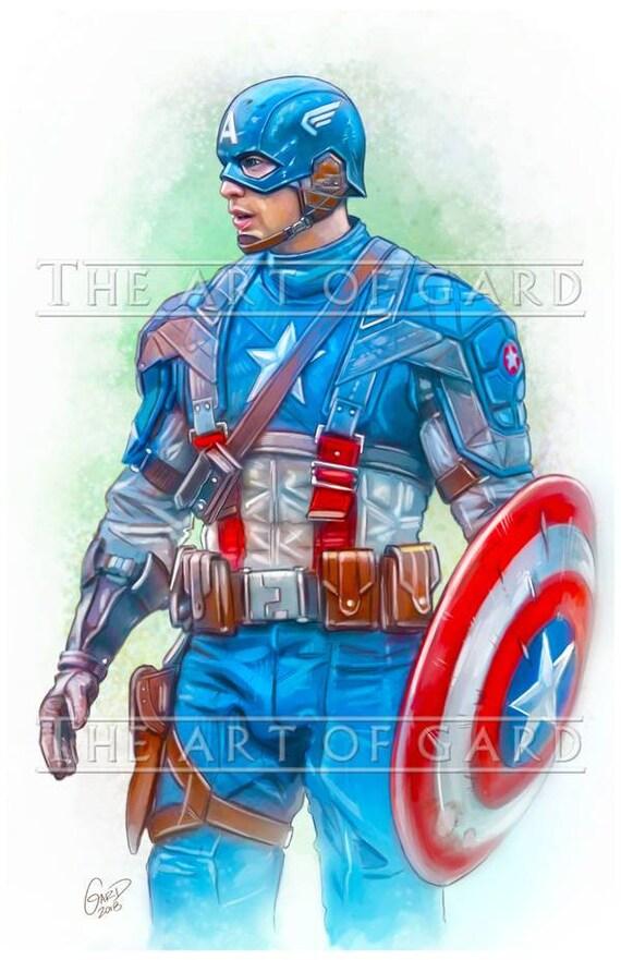 Captain America The First Avenger Art Print