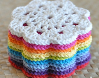 PDF Snowflower Lace Coaster Crochet Pattern