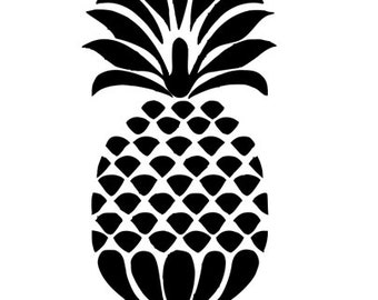 Pineapple Trendy Vinyl Car Decal Bumper Window Sticker Any Color Multiple Sizes Jenuine Crafts