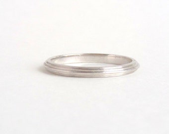 Art Deco Platinum Eternity Ring. Rare Stepped Minimal JR Wood.