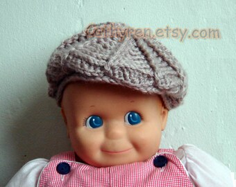 Baby Golf Hat and Newsboy Hat -INSTANT DOWNLOAD Crochet Pattern