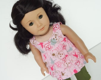 18 Inch Doll Clothes -- Ruffled Top -- 1 Piece (5-16)
