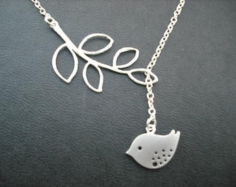 Sterling Silver Chain - sweet little mod bird lariat
