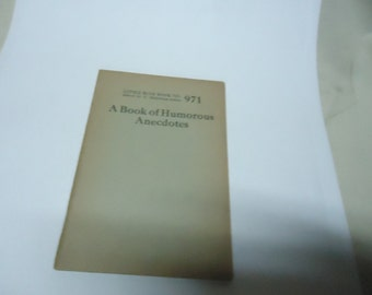 Vintage 1920's Little Blue Book No. 971 A Book Of Humorous Anecdotes, collectable