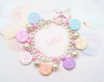 bracelet candy heart