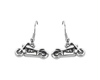 Best Woman's Stainless Steel Silver Motorcycle Earrings Heavy Metal Jewelry 316l