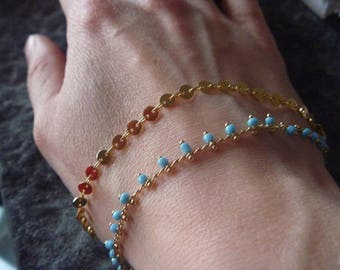 Blue Mesh Bracelet