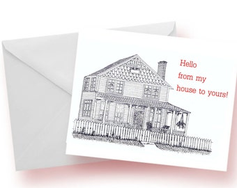 House Notecards, Home Notecards, Home Stationery, Set of Notecards, Blank Notecards
