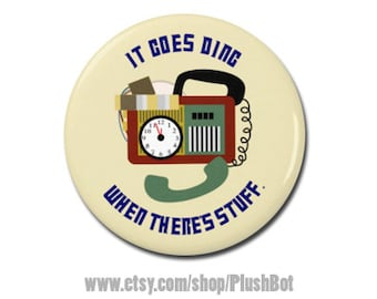 "Timey Wimey Detector Doctor Who Button 1.25"" or 2.25"" Pinback Pin Button Badge"
