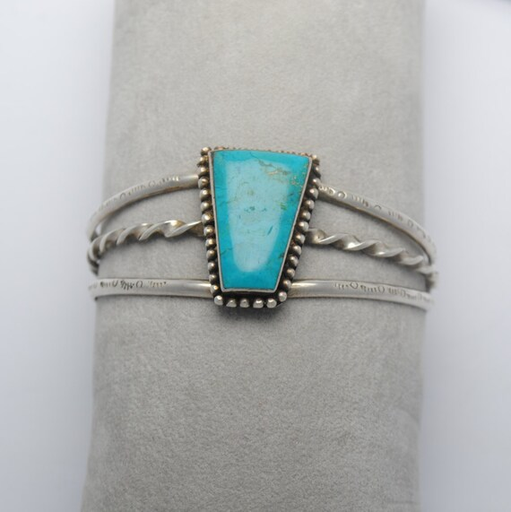 Turquoise cuff bracelet and sterling silver