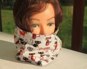 Snood, cowl, neck fleece and cotton for children
