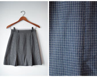 Vintage high waisted plaid miniskirt | size 26