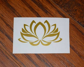 Lotus Flower Decal, Lotus Flower Sticker, Yoga Decal, Lotus Decal, Lotus Car Decal, Lotus Laptop Decal, Lotus Tumbler Decal, Lotus Phone