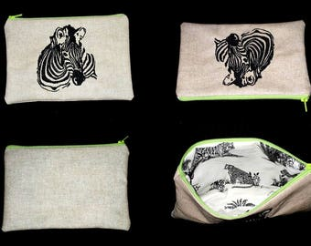 personalized Zebra embroidered buckel