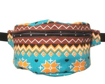 Aztec BUM BAG FANNY pack, Hands free Belt Bag, Hip Bag, Belt Pouch, Belt Bag