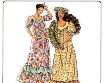 Loose Fit Pullover Traditional Muumuu - Petite-3X - Victoria Jones Sewing Pattern #103