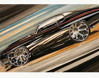 1970 Chevelle Hot Rod Art Chevy. Chevy Hot Rod Art 1970 Chevelle. Hot Rod Chevy Art Chevelle. Man cave decor, boys room decor, garage decor.