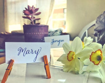 Calligraphy Event/Wedding Name Cards