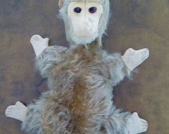 Vintage 1930's Monkey Hand Glove Puppet Old Traditional Toy