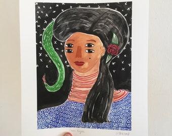 "Giclée Art Print: ""Four Eyes"""