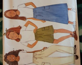 Butterick 5966, Girl's Top, Skirt, Shorts and Pants Sewing Pattern