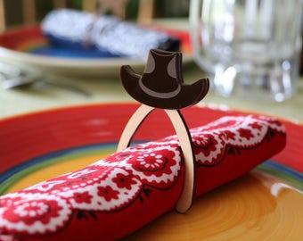 Black Western Hat Wishbone