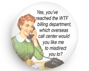Funny, Retro Housewives Refrigerator Gift Magnet