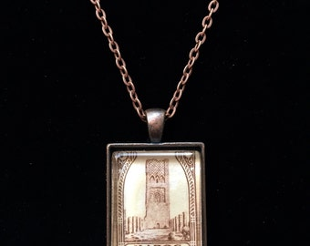 Moroccan Postage Stamp Necklace