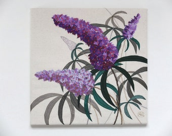 Summer Buddleia Textile Art Kit by Angela Attwood