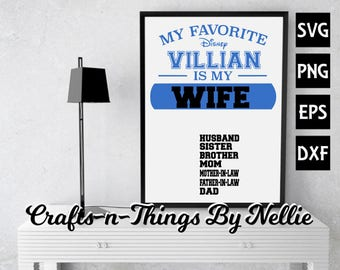 Disney-My Favorite Villian Is SVG