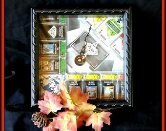 Mono Board Game Clock, Man Cave Decor, Dorm Decor, Christmas Gift, Birthday Gift, Graduation Gift