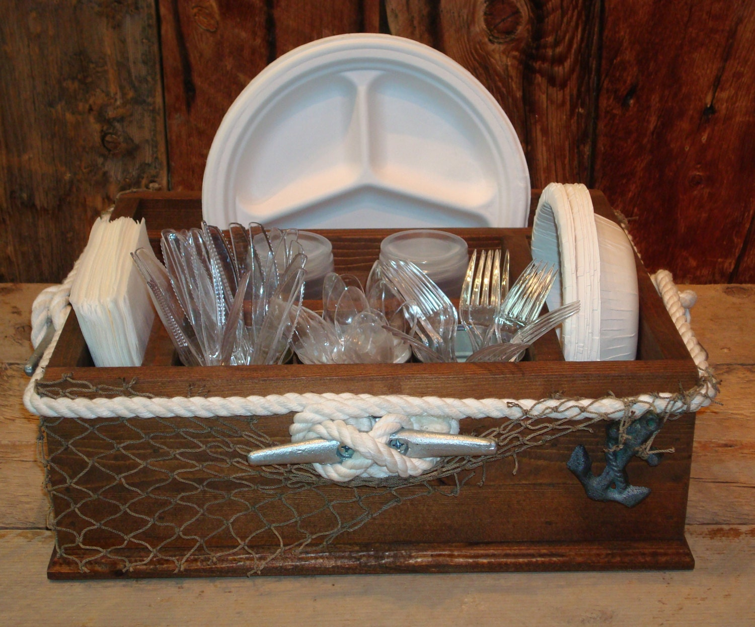 Boating ocean beach nartical themed party decor tableware