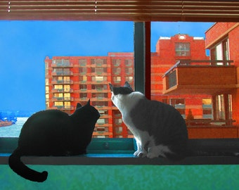 Blank Notecards, City Cats, Notecard Set,Photo Notecards,Note Cards, Cat Greeting Cards, Blank Greeting Cards