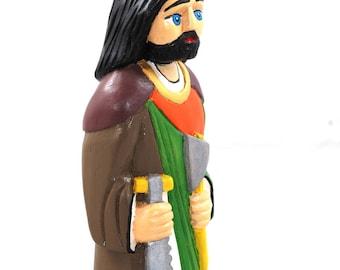 Saint Joseph/ Joseph/ hand carved sculpture/ art naive/ folk art