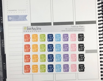 Set of 32 Time To Plan Mini Planner Stickers