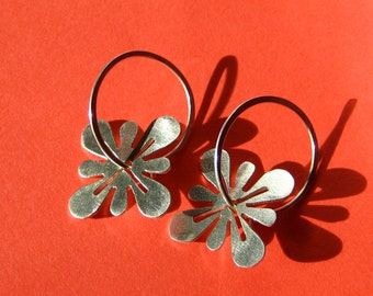 Sterling Silver Hanabira Blossom Earrings