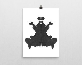 Therapist Office Artwork Rorschach Ink Blot Art Vertical print no 3