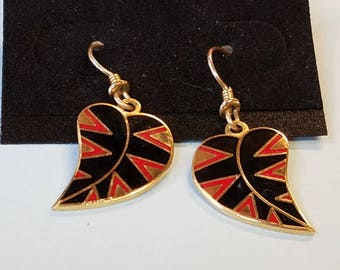 Vintage Laurel Burch Earrings, Laurel Burch Earrings,Leaf Earrings,Petite Petal Earrings, Laurel Burch Petite Petal Earrings